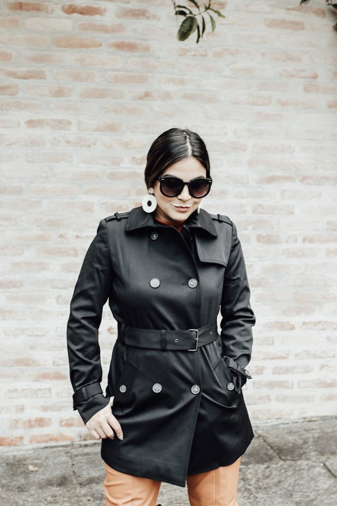 Look do Dia Trench Coat Preto, Look do Dia Trench Coat, Look Trench Coat Preto, Trench Coat Preto, Como Usar Trench Coat Preto, Inspiração Trench Coat