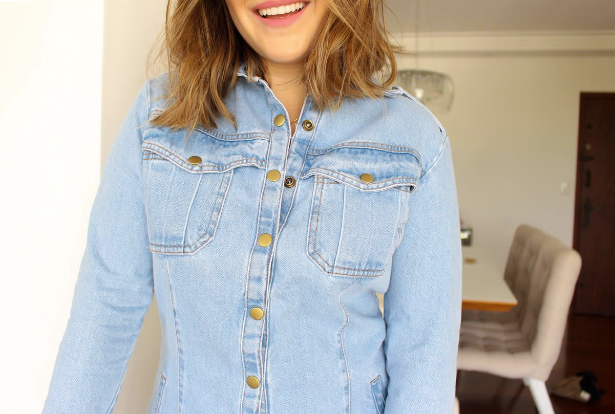 Look Chemise Jeans, Look Vestido Jeans, Look com espadrille, look espadrille, look vestido, look com vestido jeans, look com chemise