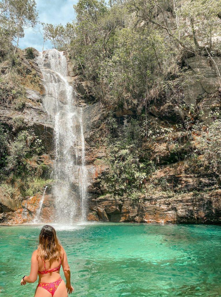 cachoeira santa barbara goias