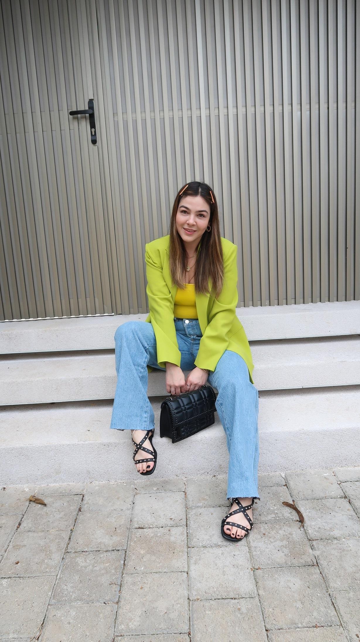 Look Blazer Verde Lima, Look Blazer Verde, Blazer Verde Lima, blazer verde, blazer verde lima, look calça wide leg